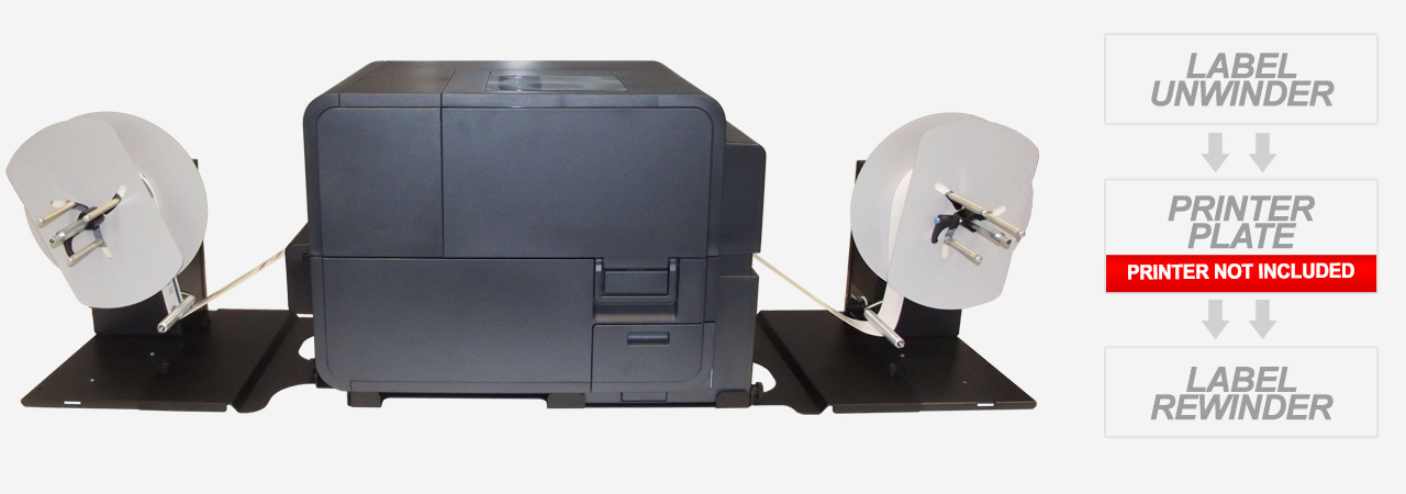 label unwinder/rewinder for Swiftcolor printer